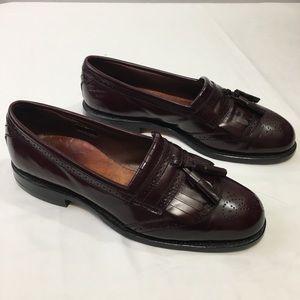 Allen Edmonds Bridgeton Sz 7.5 burgundy loafers